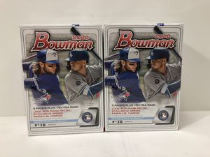 (2) boxes Topps MLB cards 2020 Bowman Blaster box lot of 2 sealed brand new baseball cards for Sale in Burbank, CA