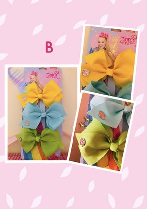 🎀 Jojo Siwa Collection • 3- 5.6in bows for Sale in Lemont, IL
