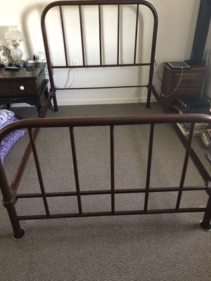 Antique full size bed frame for Sale in Amarillo, TX