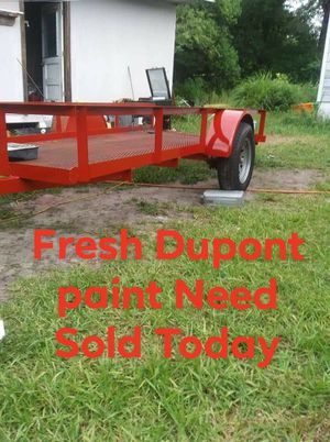 5 x 1/2 ×12 ft custom homemade utility trailer need sold today for Sale in DeLand, FL