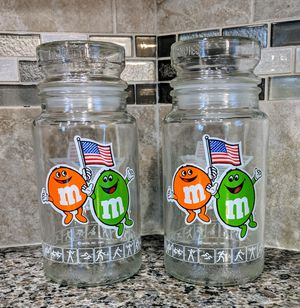 Vintage M&Ms USA 1984 Olympic Candy Jars for Sale in Raleigh, NC