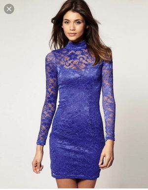 ASOS lace purple dress with open back. Size UK 8, US 4-6 for Sale in Mountain View, CA