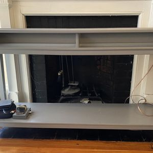IKEA LIATORP grey console table with glass top for Sale in Cambridge, MA