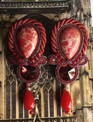 Handmade Red Soutache Earrings for Sale for sale  Olympia, WA