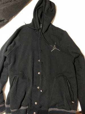 Large Jordan men's button up jacket hoodie for Sale in Canton, MI