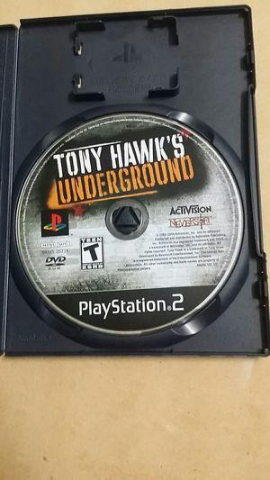 Tony Hawk's Under ground , PS2 for Sale in El Cajon, CA