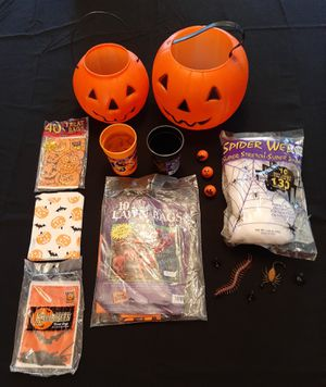Halloween Buckets, Cups, Baggies & More! for Sale in Bolingbrook, IL