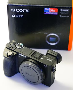 Sony a6500 mirrorless camera 4k video in box for Sale in Miami, FL