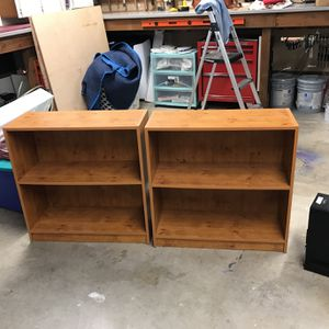 Two Matching Small Bookshelves for Sale in Auburn, WA