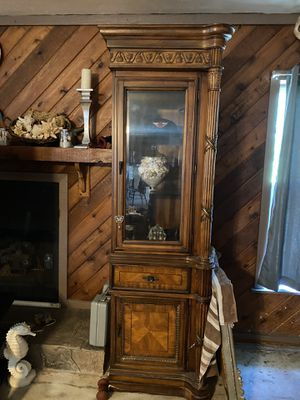 Large entertainment center w 2 shelves n lighting for Sale in Cape Coral, FL