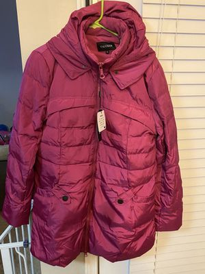 Beinia Valuker Women's Down Coat 90D Parka Puffer Jacket 57-Rose-Pink-L. Fur hood attachment not included for Sale in Cumming, GA