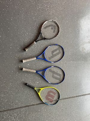 4 tennis rackets for Sale in Palatine, IL