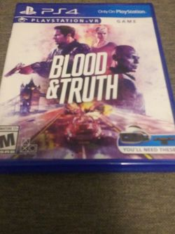 Blood And Truth for Sale in Fairmont,  WV