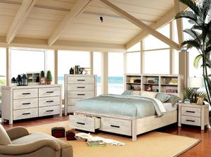 4-Pc Wire Brushed Solid Queen Bedroom Set for Sale in Fresno, CA