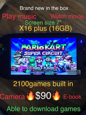 """X16 7"""" with 11000 games built in Handheld Game Console 16G Portable Retro Game Player For Neogeo Arcade Classic Video Game Players🔥$90🔥only for Sale in Anaheim, CA"""