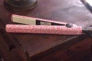 Pink Zebra Print Hair Straightener for Sale in Des Plaines, IL