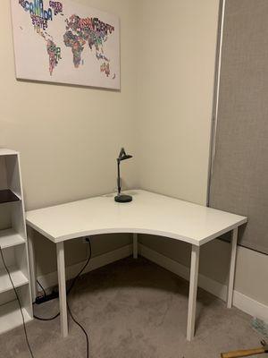 Ikea Corner office Table Desk Brown White for Sale in Arcadia, CA