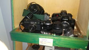 Various cameras and lenses. for Sale in Houston, TX