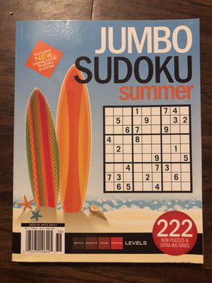 Jumbo Sudoku Summer 222 puzzles for Sale in Riverside, CA