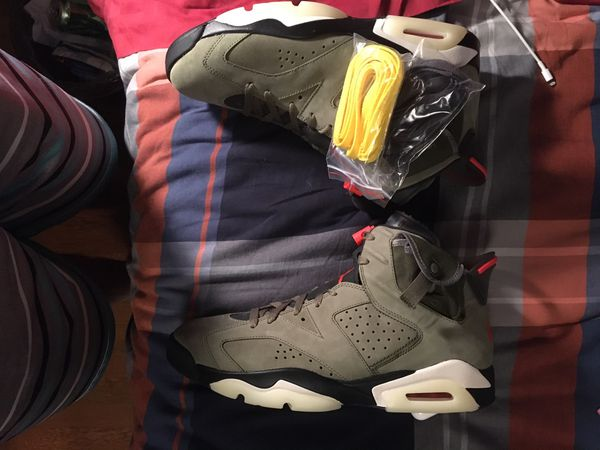 Travis Scott Air Jordan 6 Size 11.5