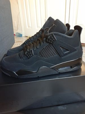 """BRAND NEW 'NEVER WORN OR TRIED ON' AIR JORDAN 4 RETRO """"BLACK CATS"""" W/ORG BOX MEN'S SIZES 8 AND 9 AVAILABLE 'PICK UP ONLY ' for Sale in San Bernardino, CA"""