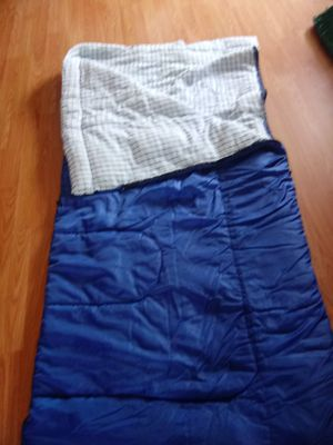 Blue Coleman sleeping bag with pellets inside USED BUT IN GREAT CONDITION for Sale in Los Angeles, CA