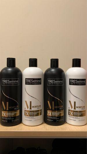 4 Tresemme Moisture Rich shampoo & conditioner 28 oz: all 4 for $9 for Sale in Alexandria, VA