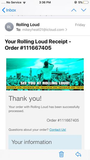 Vip Rolling loud ticket for Sale in West Palm Beach, FL