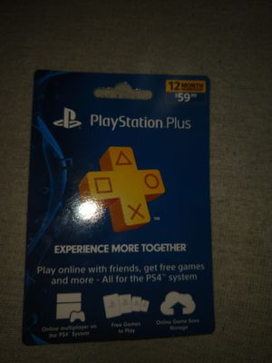 12 months PlayStation plus for Sale in Mechanicsburg, PA