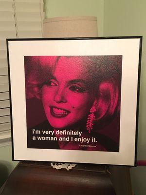 Marilyn Monroe Framed Picture for Sale in Santa Monica, CA