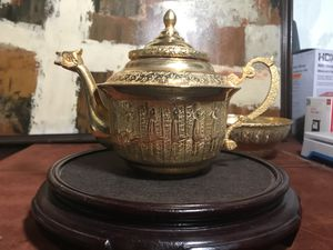 Antique hand-made gold coated pot for Sale in Diamond Bar, CA
