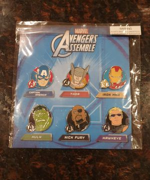 Disney avengers trading pin set. Tradeable at all disney parks. for Sale in Los Angeles, CA