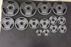 Olympic weight plates for Sale in El Monte, CA