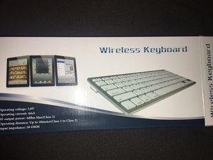 White Wireless Bluetooth Keyboard for Sale in Roanoke, VA