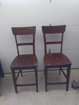 4. wooden bar stools or table chairs 25 in floor to seat 44 hgt for Sale in Victorville, CA