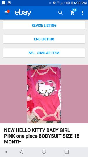 New hello kitty pink onesie 18 monthes for Sale in Tullahoma, TN
