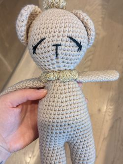 Cute Small Crochet Teddy Bear (Unused) for Sale in Newark,  CA