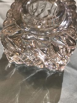 Vintage glass candle holder for Sale in Madera,  CA