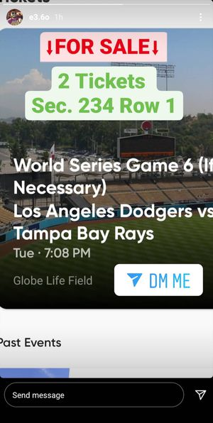 World Series Tix Game 6 for Sale in Lynwood, CA