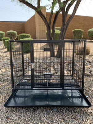 New HD dog kennel crate cage in sealed box 📦 includes: durable plastic tray, casters and hardware 🐶 see dimensions in second picture 🐶 for Sale in Fort McDowell, AZ