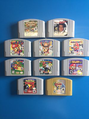 Huge Lot Of Pokemon Mario Party Harvest 007 n64 games for Sale in Laguna Beach, CA