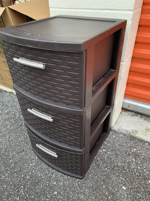 Brown storage drawer container for Sale in Orlando, FL