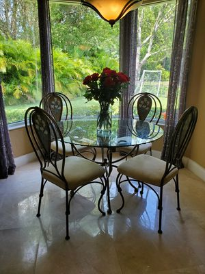 Iron table set for Sale in Coral Springs, FL