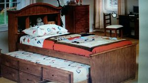 New Twin beautiful Bookcase Bed with Trundle & Storage Drawers for Sale in Denver, CO