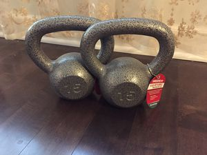 15 lbs kettle bells! Brand new!! for Sale in Riverwoods, IL