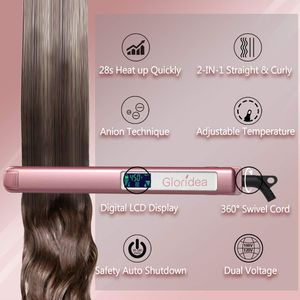 Flat Iron Titanium 1 Inch Professional Hair Straightener with Adjustable Temperature 170-450 ℉ for Sale in Fontana, CA