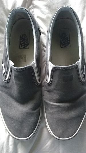 Grey slip-on Vans for Sale in Vancouver, WA
