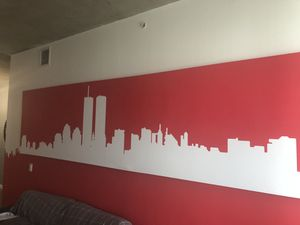 NYC Red Night Skyline Printed Art for Sale in West Palm Beach, FL