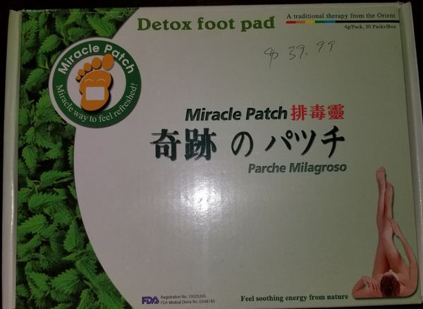 Detox foot packs