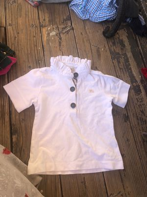 Burberry girl white shirt for Sale in Los Angeles, CA